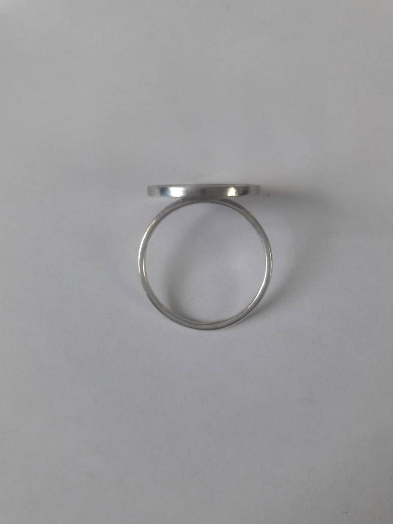 1988 Aruba Foreigh Coin Sterling Silver Stackable Ring