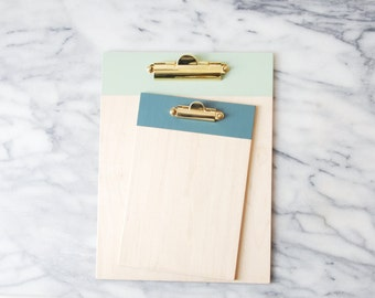 Painted Wood Clipboard with Brass Hardware | Menu Clipboard | Photo Clipboard | Wall Hanging Clipboard | Clipboard for Art