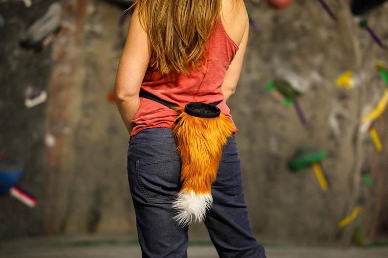Crimp Chimps Original Fox Tail Chalk Bag image 0