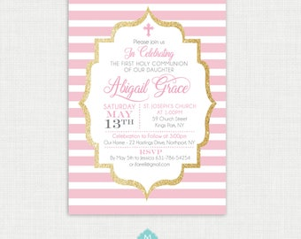 Printable Baptism Invitation Girl