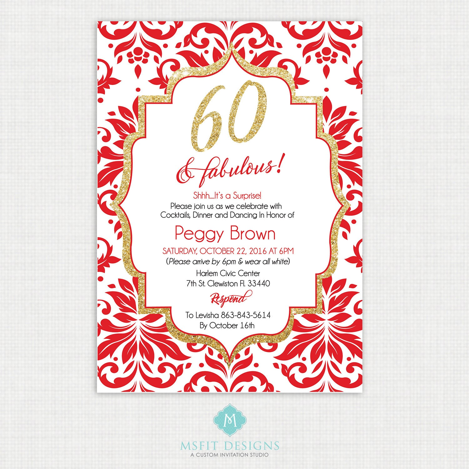 printable birthday invitation 60th birthday invitation party