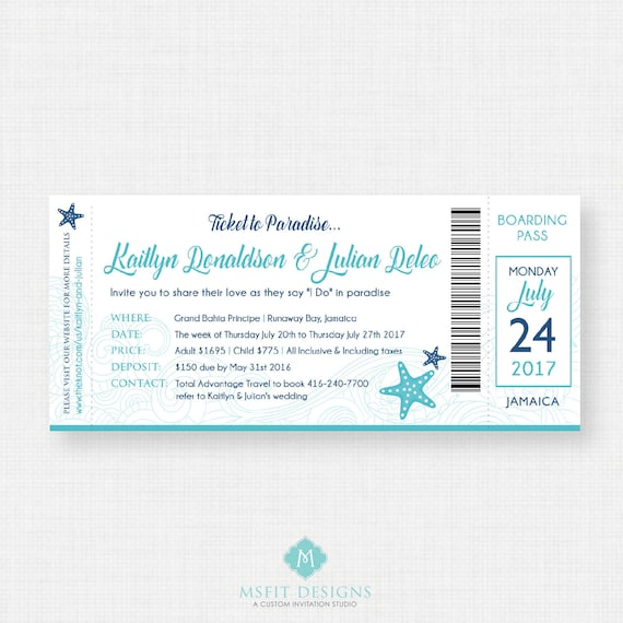 Boarding Pass Invitation, Destination Wedding Invitation, Wedding pass invitation, Wedding invitation, Wedding shower invitation