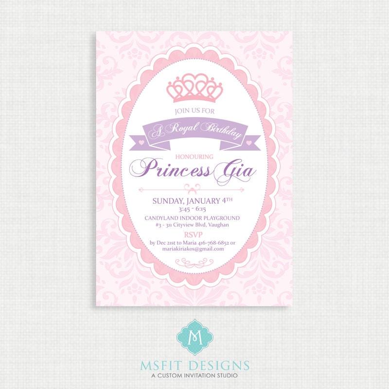 Princess Birthday Invitation Princess Birthday Invitation Princess