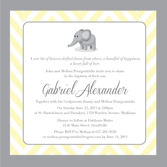 Printable Baptism Invitation - Unisex Baptism Invitation - DIY Printable Invite - Christening, Communion, Dedication, Baby Blessing