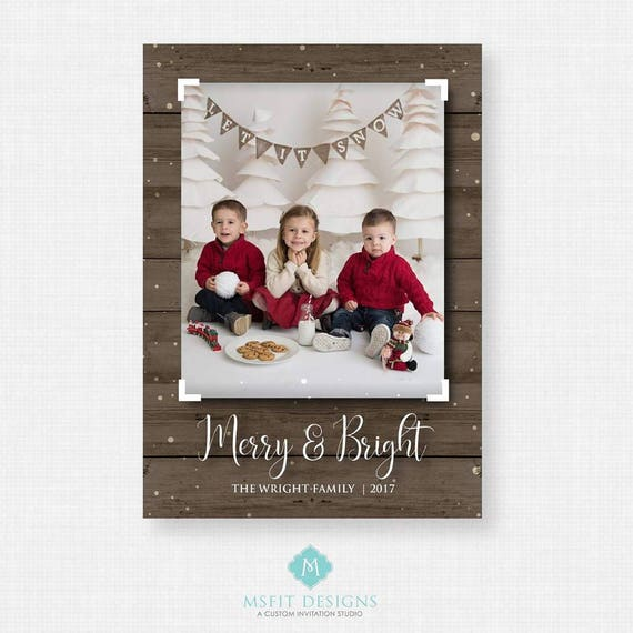 Printable Christmas Card -  Christmas card template - Holiday Greeting Cards