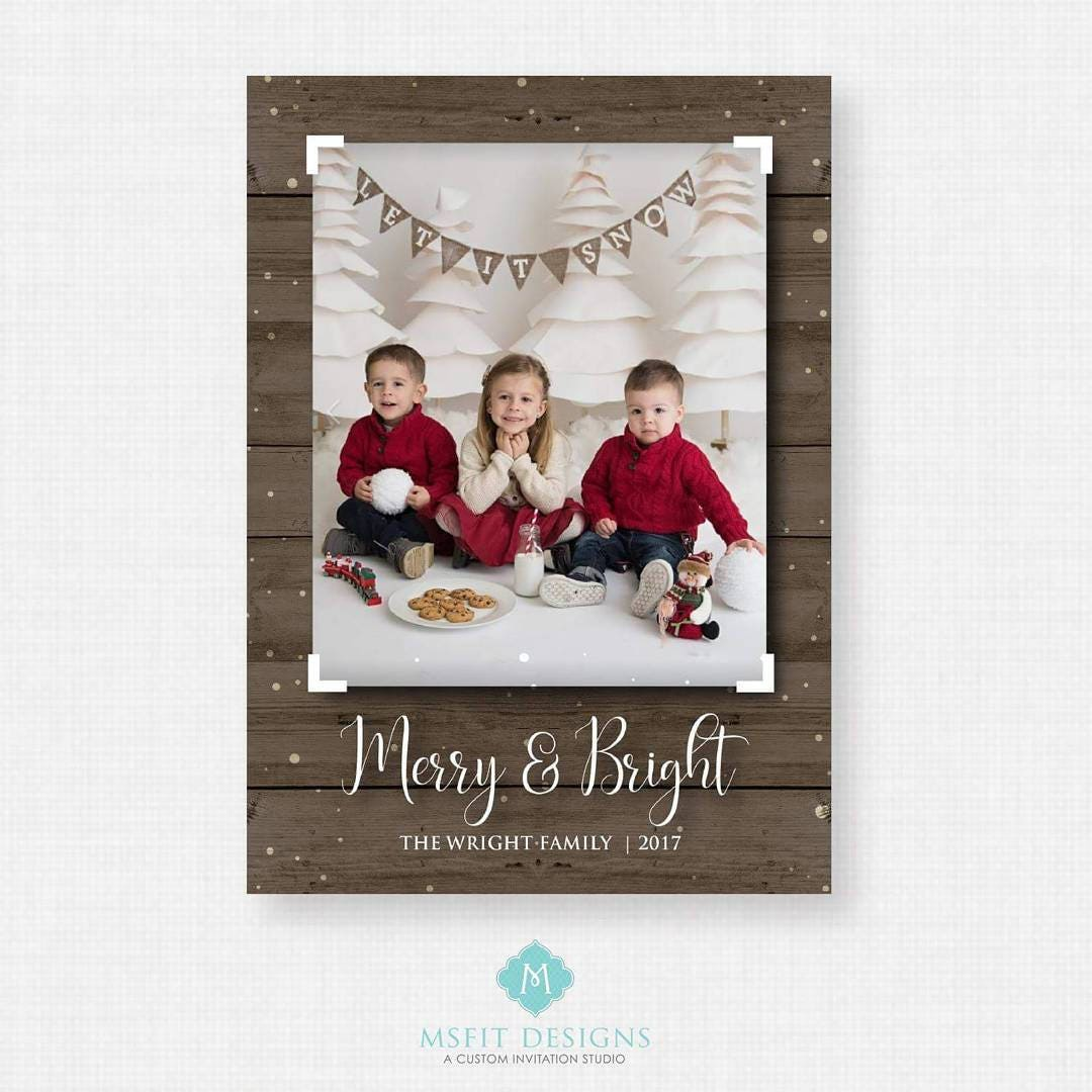 Printable Christmas Card - Christmas card template - Holiday ...