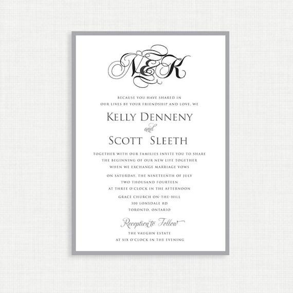 Printable wedding invitation- RSVP Card Included- Simple Wedding Invitation- Invitation Template