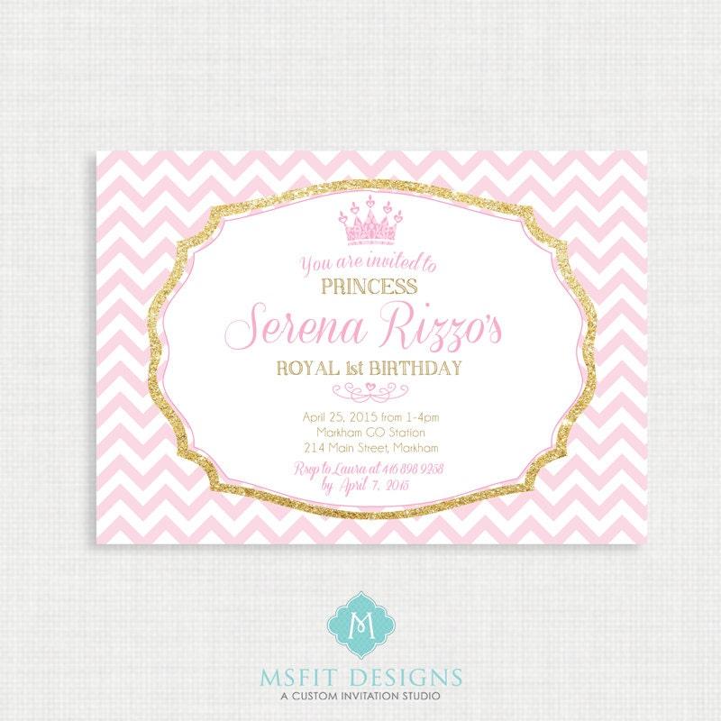 princess birthday invitation tiara birthday party invitation