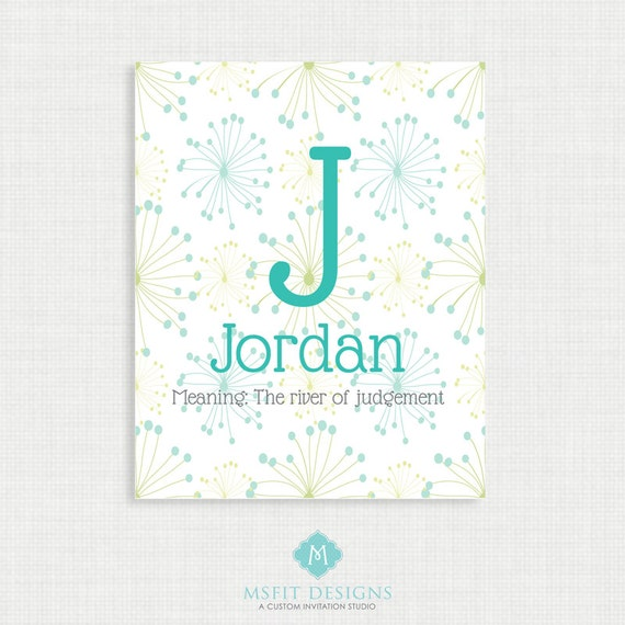 Printable Wall Art- Name Meaning Poster - Boy Name Wall Art Print, Digital Printable Wall Decor-Poster
