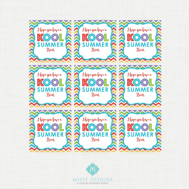 photo about Have a Kool Summer Printable identify Quick Down load Consist of a Kool Summer time Printable Occasion Tags, Higher education Social gathering Choose Tags, Trainer Snacks, Like Tags, Kool-Help Get together Favors