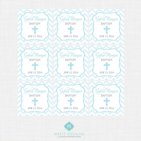 Printable Baptism Favor Tags - Favor Tags - Thank You Tags - Christening - Party Tags- Digital Printable