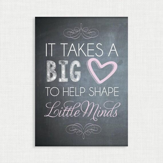 Teacher Gift - Teacher Poem Chalkboard Style Printable Digital File 5x7 JPG File
