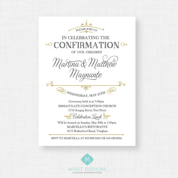 Printable Baptism Invitation- Unisex Baptism Invitation - Baby Dedication, First Communion, Confirmation, Christening - Printable invitation