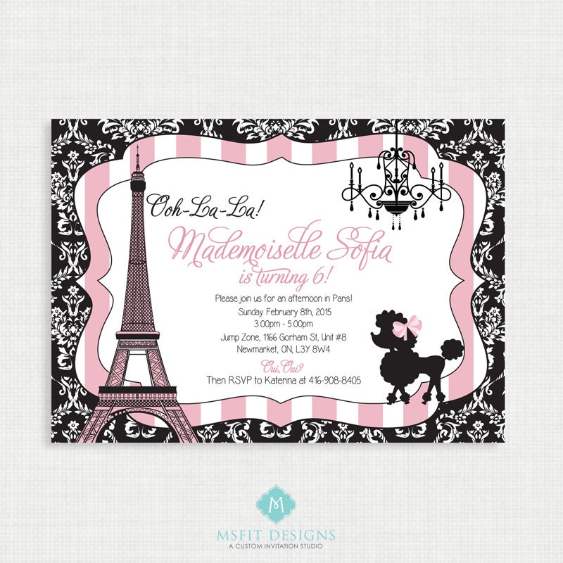 Paris birthday invitation paris birthday party eiffel tower paris birthday invitation paris birthday party eiffel tower invitation paris themed party printable invitation filmwisefo