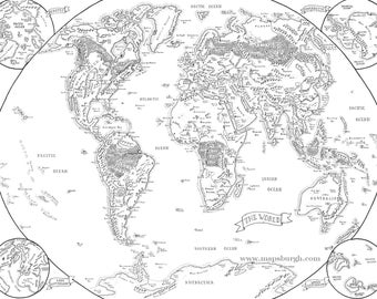 Fantasy world map etsy fantasy map of the world gumiabroncs Image collections