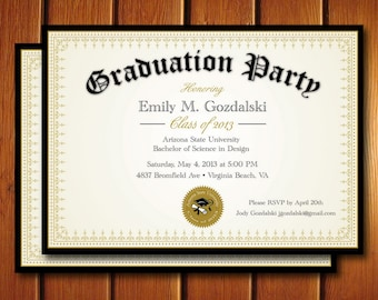 College graduation invitation etsy diploma graduation party invitations grad announcement digital college and high school filmwisefo