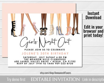 Ladies Night Invite Etsy