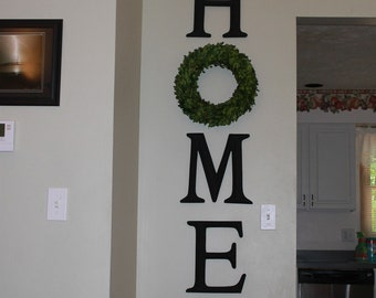 Home Letters Letter Sign With Wreath As O Farmhouse Decor Decorative