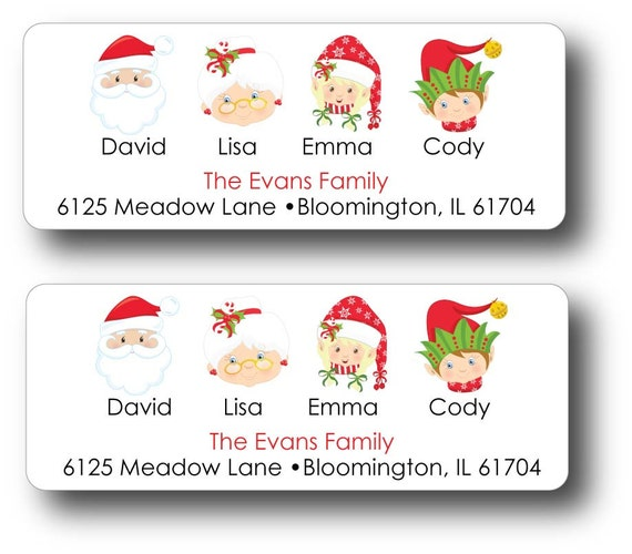 return address labels christmas return address labels christmas