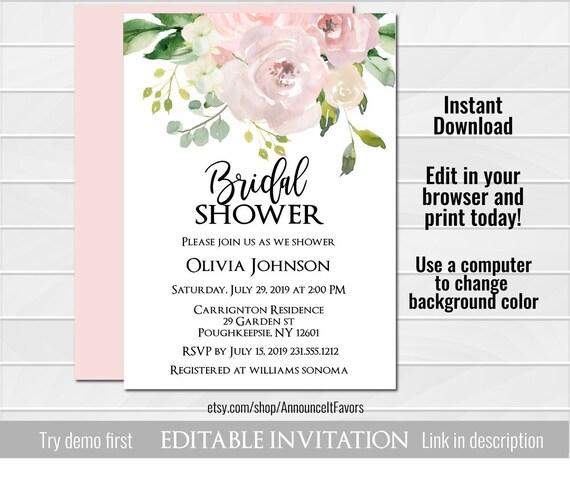 398c753b0ae5 Blush Bridal Shower Invitation