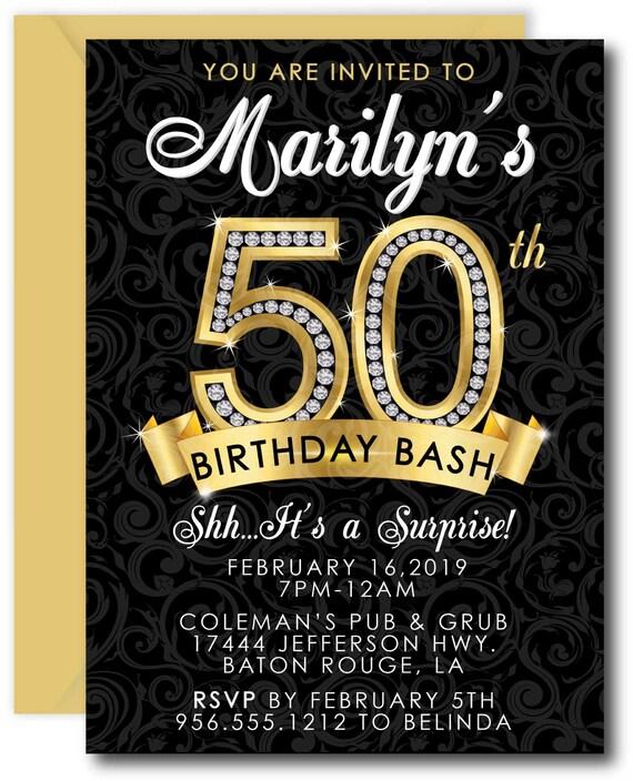 Surprise 50th Birthday Party Invitations 50th Birthday
