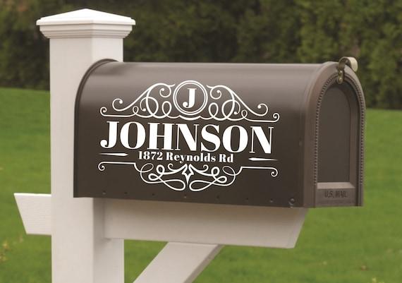 Mailbox Stickers Address Decal Custom Mailbox Decal House number decal Mailbox Mailbox Monogram Mailbox Decal Mailbox Numbers