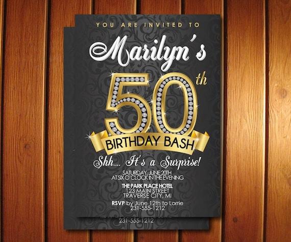 Surprise 50th Birthday Party Invitations 50th Birthday Invitations