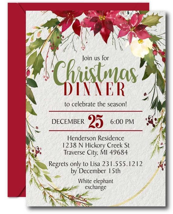 Editable Christmas Invitation Template Christmas Party Invitation Holiday Party Invitations Christmas Dinner Holiday Office