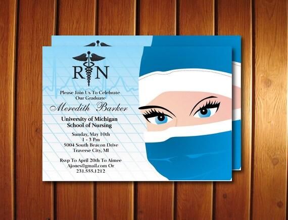 graphic relating to Nurse Graduation Invitations Printable called Printable Nursing Commencement Invitation - Nursing University