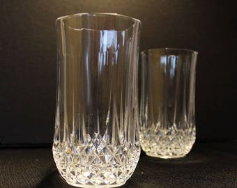 Cris D'Arques-Durand Crystal  Longchamp Clear Tumbler Cocktail Glasses, Set of Two