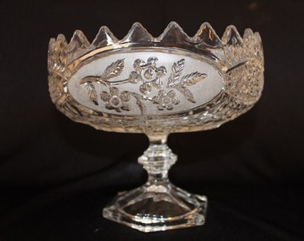 Vintage Pedestal Wedding Centerpiece Bowl