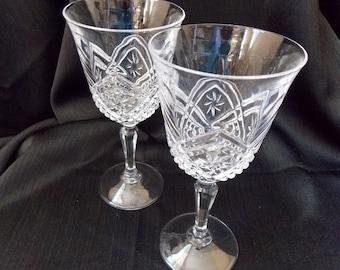 Durand Cris d' Arques Altesse  Water Goblets, Pair