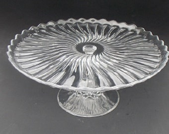 Fostoria Colony Glass Pedestal Cake Stand