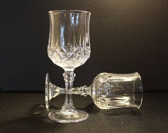 Cris D'Arques-Durand Longchamp Clear Water Goblets, Set of Two