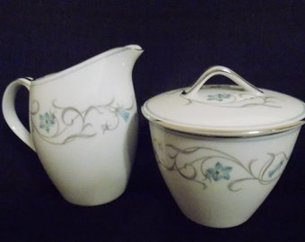 Vintage Noritake Beaumont  Creamer and Sugar Set