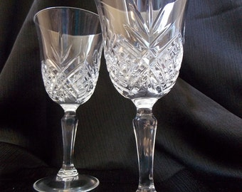Durand Cris D'Arques  Fontenay Wedding Toasting Glasses, Pair