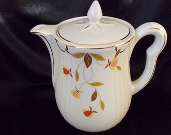 Vintage Hall's Superior Autumn Leaf Coffee Pot