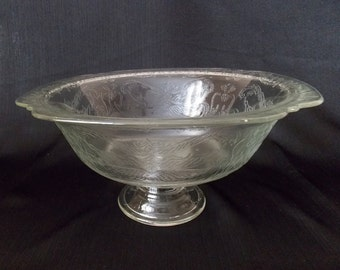 Indiana Glass Madrid  Pedestal Bowl