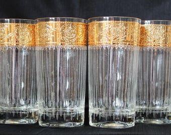 Culver Tyrol Highball Tumbler Glasses, Set of Six