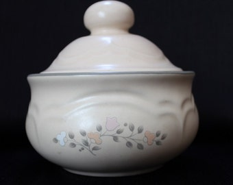 Vintage Pfaltzgraff  Rememberance  Sugar Bowl with Lid