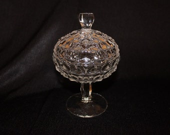 Fostoria America Compote Covered Candy or Jelly Dish