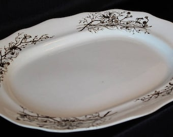 19th Century English Turner's Turnstall Serving Platter