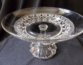 Antique EAPG Pedestal Wedding Centerpiece Bowl
