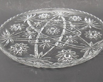 Vintage Anchor Hocking Star of David Cake Platter