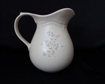 Vintage Pfaltzgraff Remembrance Pitcher, 32 Ounce