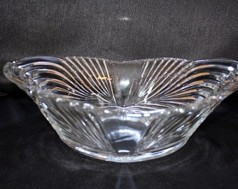 Vintage  Oval Glass Centerpiece Bowl