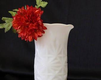 Anchor Hocking Milk Glass Flower Vase