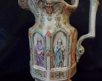 Mid-Century Glazed Gothic Apostle Jug