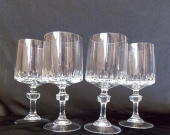 Princess House 8 Ounce  Water Goblets. Set of 4