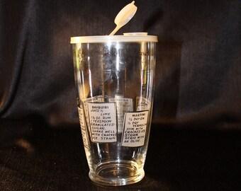 Black Font  Recipe Cocktail Shaker